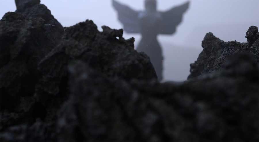 Angel and Rocks